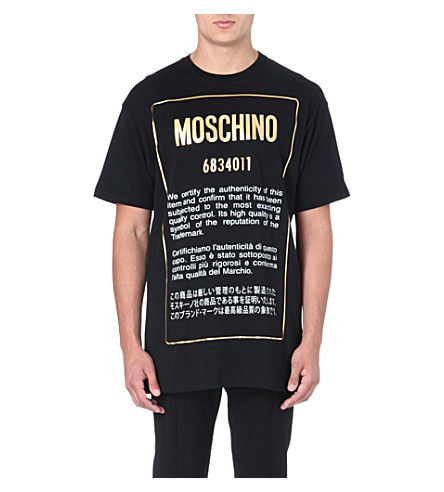 MOSCHINO Authentic cotton t-shirt (Black