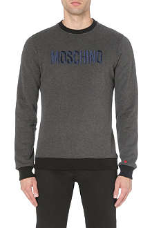 MOSCHINO Embroidered-logo sweatshirt