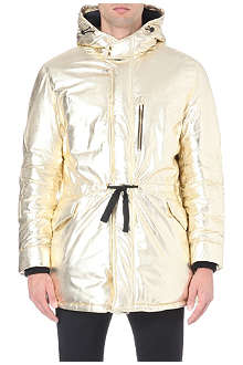 MOSCHINO Metallic quilted parka jacket