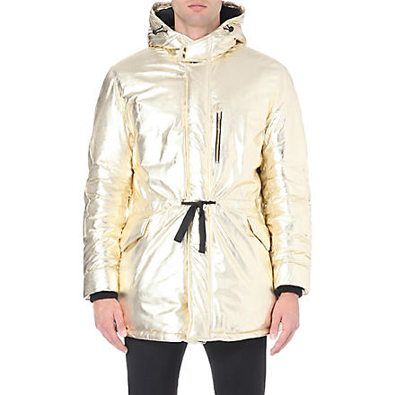 MOSCHINO Metallic quilted parka jacket (Gold