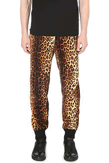 MOSCHINO Leopard print jogging bottoms