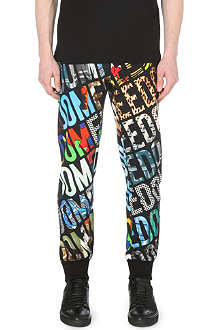 MOSCHINO Freedom print jogging bottoms