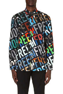 MOSCHINO Freedom-print cotton shirt