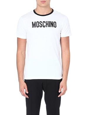 MOSCHINO Logo print cotton t-shirt