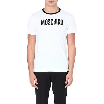 MOSCHINO Logo print cotton t-shirt (White