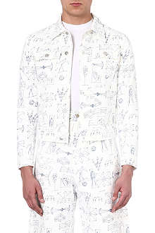 GOSHA RUBCHINSKIY Illustrative print denim jacket