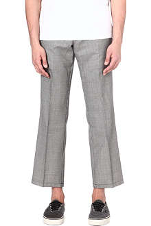 GOSHA RUBCHINSKIY Cropped houndstooth wool trousers