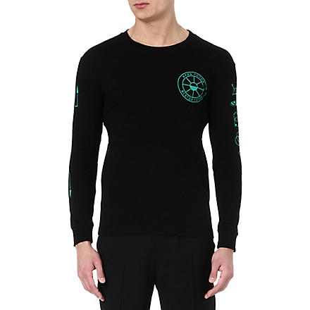 GOSHA RUBCHINSKIY Symbol long-sleeved top (Black