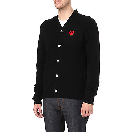 COMME DES GARCONS PLAY PLAY heart cardigan (Black