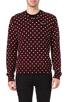 COMME DES GARCONS PLAY Polka-dot knitted jumper