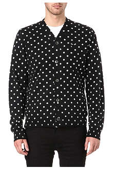 COMME DES GARCONS PLAY Knitted polka dot cardigan