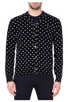 COMME DES GARCONS PLAY Polka-dot knitted cardigan