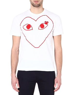 COMME DES GARCONS PLAY Heart-print t-shirt