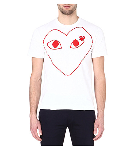 COMME DES GARCONS PLAY Heart-print t-shirt (White