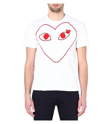 COMME DES GARCONS PLAY Heart-print t-shirt (White
