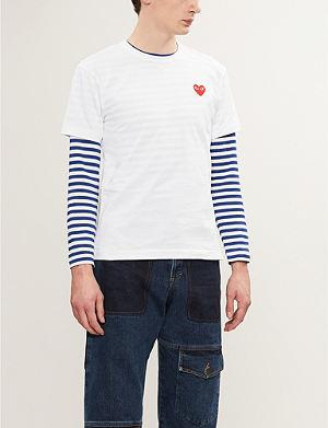 COMME DES GARCONS PLAY Heart-appliqué t-shirt