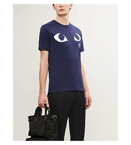 COMME DES GARCONS PLAY 眼睛 T 恤 (海军