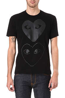 COMME DES GARCONS PLAY Heart printed t-shirt