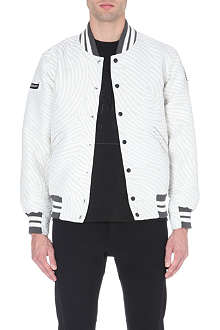 OPENING CEREMONY Fingerprint varsity jacket