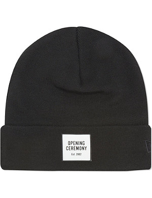 OPENING CEREMONY Logo knitted cotton beanie
