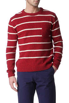 OLIVER SPENCER Striped crew-neck jumper