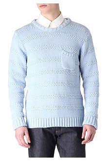 OLIVER SPENCER Moss stripe jumper