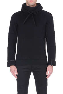 HELMUT LANG Funnel-neck jersey sweatshirt