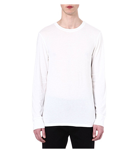 HELMUT LANG Spring jersey top (White
