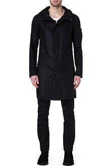 HELMUT LANG Leather-effect coated parka