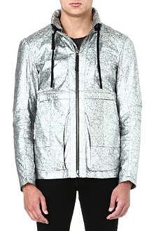 HELMUT LANG Silver-foil windbreaker jacket