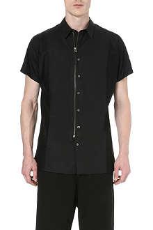 HELMUT LANG Contrasting mesh insert shirt