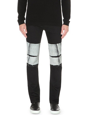 HELMUT LANG Bar-print slim-fit skinny jeans