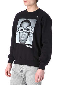 HYPE MEANS NOTHING Jay-Z hand-glasses sweatshirt