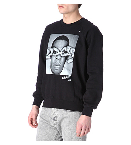 HYPE MEANS NOTHING Jay-Z hand-glasses sweatshirt (Black