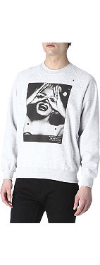 HYPE MEANS NOTHING Marilyn Monroe hand-glasses sweatshirt
