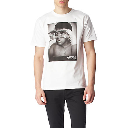 HYPE MEANS NOTHING Muhammed Ali t–shirt (White