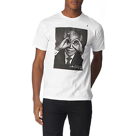 HYPE MEANS NOTHING Nelson Mandela t–shirt (White