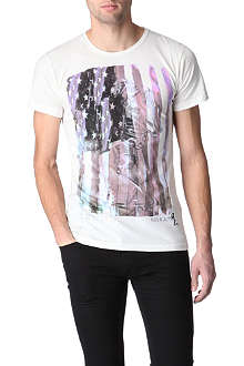 RELIGION American Flag and Skeleton t-shirt