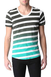 RELIGION Striped scoop-neck t-shirt