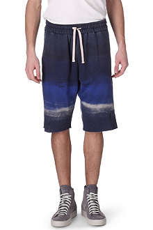 RELIGION Paint stripe sweat shorts