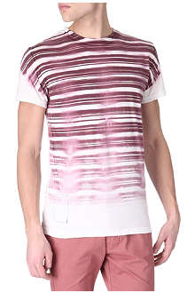 RELIGION Washed out striped t-shirt