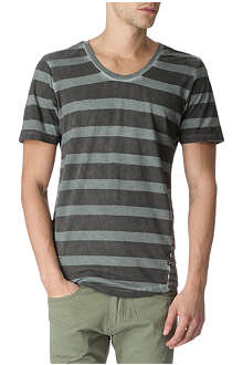 RELIGION Dyed striped t-shirt