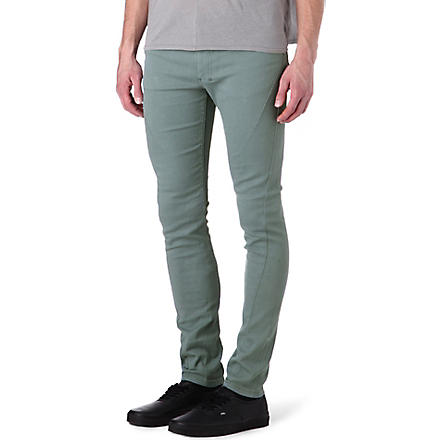 RELIGION Skinny-fit straight jeans (Teal