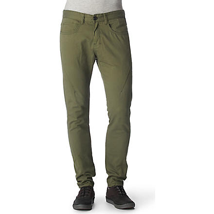 RELIGION Plain chinos (Sage