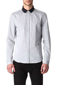 RELIGION Contrast collar shirt