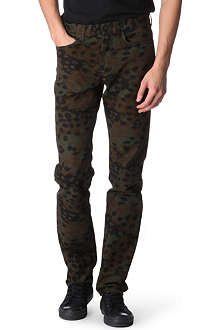 MARC BY MARC JACOBS Irvin camouflage uniform slim-fit straight jeans