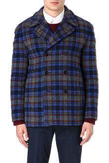 MARC BY MARC JACOBS Double-face plaid coat