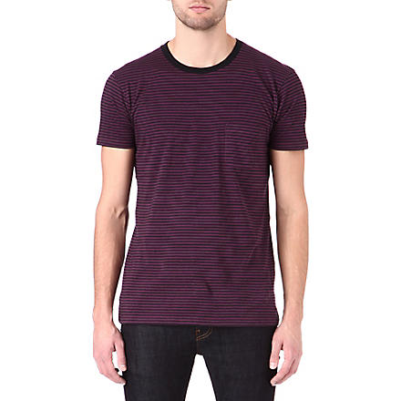 MARC BY MARC JACOBS Liverpool striped t-shirt (Hortensia