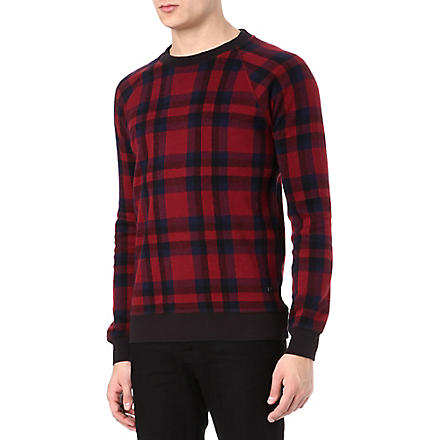 MARC BY MARC JACOBS Sheffield plaid sweatshirt (Wineberry