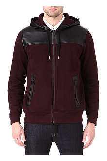 MARC BY MARC JACOBS Thompson leather trim hoody